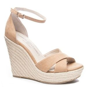Chinese Laundry Morgan Espadrille Wedge Camel